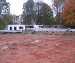 Krtkova aréna během rekonstrukce v roce 2011