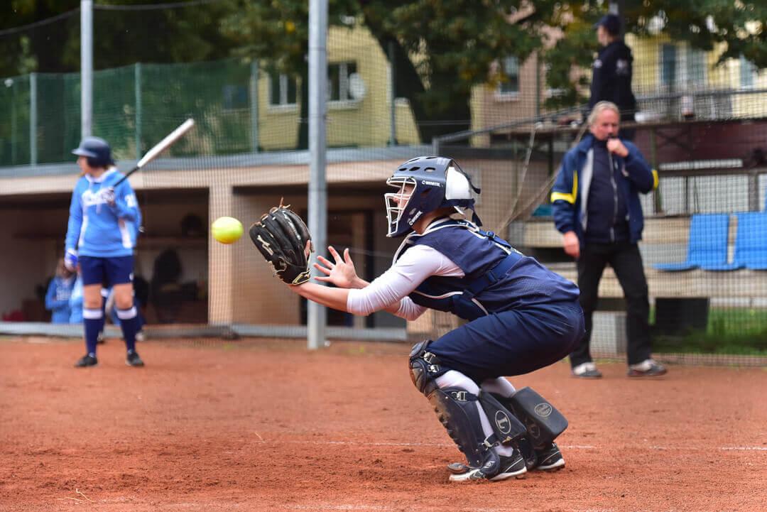 Softballový catcher (chytač)